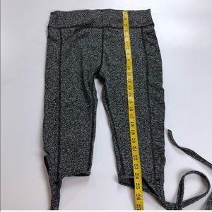 Pants - Grey tie yoga Fitness capris (GO23K10Y)